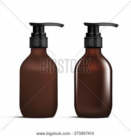 Mate And Glossy Cosmetic Liquid Product Bottle
