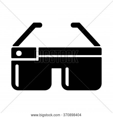 Smart Glasses In Line Style. Wearable Technologies Sign. Futuristic Technological Innovation Symbol.