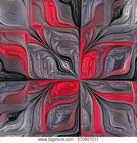 Multicolored Abstract Stylized Flower. Modern Art. You Can Use It For Stained-glass Window, Tile, Mo