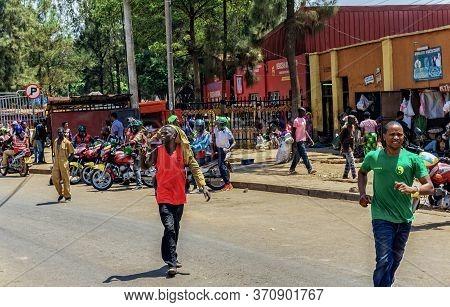 Kigali,rwanda - October 18,2017:nyabugogo This Is A Cheap Trading Place For Locals,where Rwandans Bu