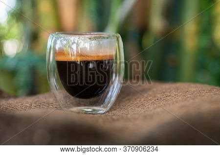 Cup Of Espresso On The Table