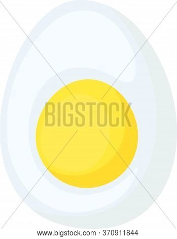 Food Icon Chicken Eggs. Half Egg With Yolk