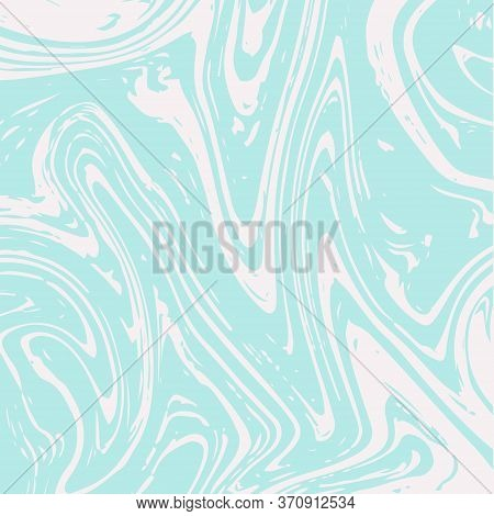 Marble Texture Vector Turquoise Liquid Paint Background. Fluid Paint Suminagashi Modern Pattern For