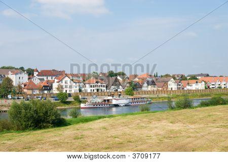 Steamship On A River
