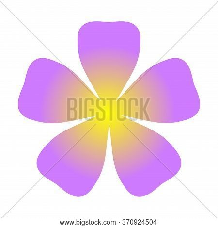 Flower Purple Simple Shape Isolated On White, Purple Flowers Single, Petals Flower Purple For Clip A