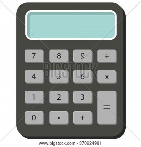 Calculator Vector Icon With Screen And Digits Numbers