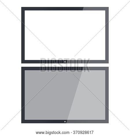 Empty Tv Frame Transparency Screen. Lcd Display Screen. Tv Digital Panel