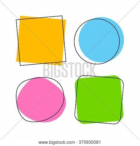 Speech Bubble For Message Talk And Copy Space Text, Colorful Speech Bubble Isolated On White, Label