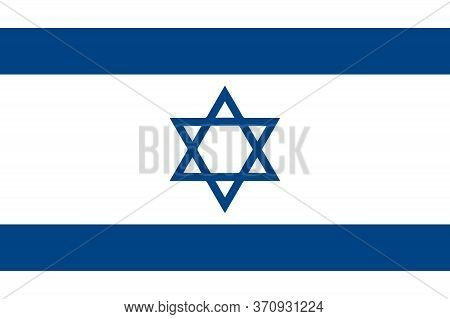 Israel Flag, Official Colors And Proportion Correctly. National Israel Flag. Flat Vector Illustratio