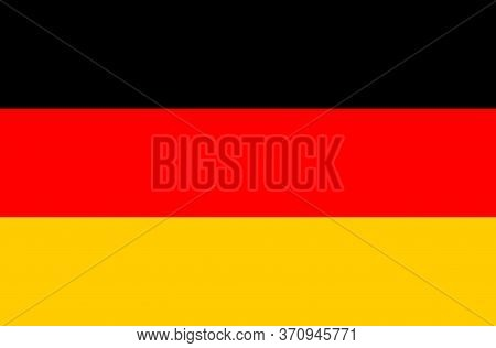 Germany Flag, Official Colors And Proportion Correctly. National Germany Flag. Vector Illustration.