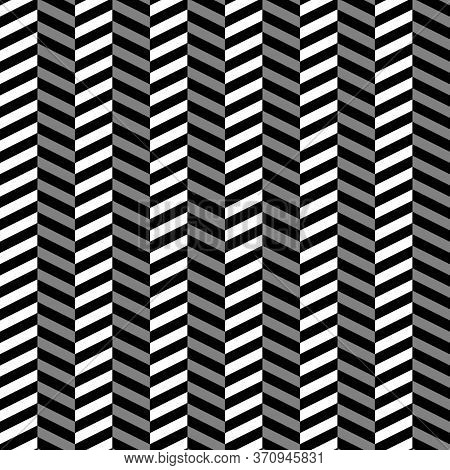 Zigzag Lines. Jagged Stripes. Seamless Surface Pattern Design With Triangular Waves Ornament. Repeat