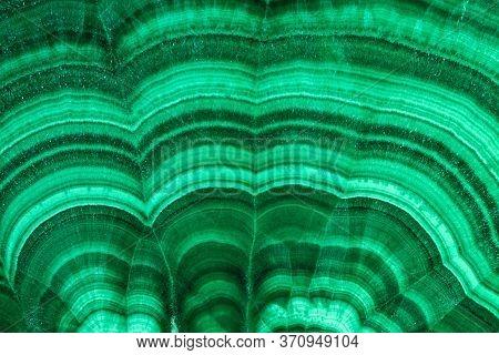 Close- Up Texture Of Green Semiprecious Stone Malachite