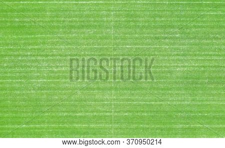 Field With Lawn In Winter, Football Field, Or Stadium.