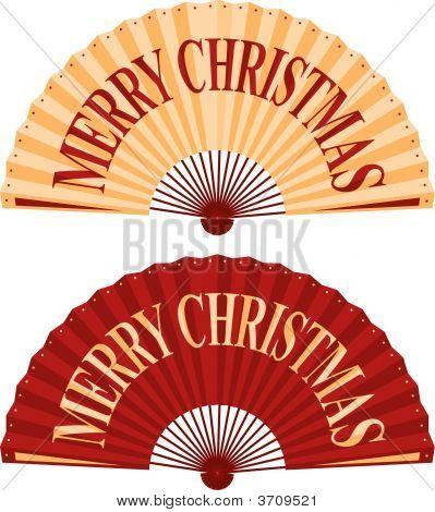 Christmas Fan.Eps