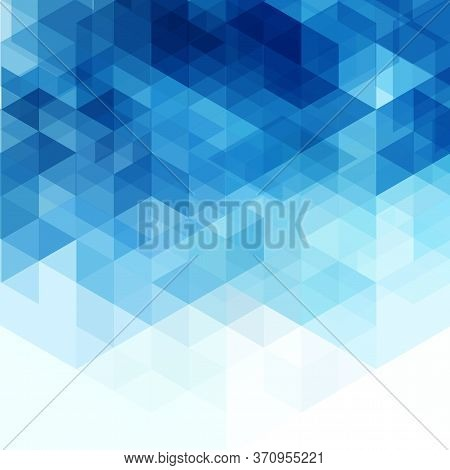 Abstract Modern Design Geometric Blue Vector Triangle Background.