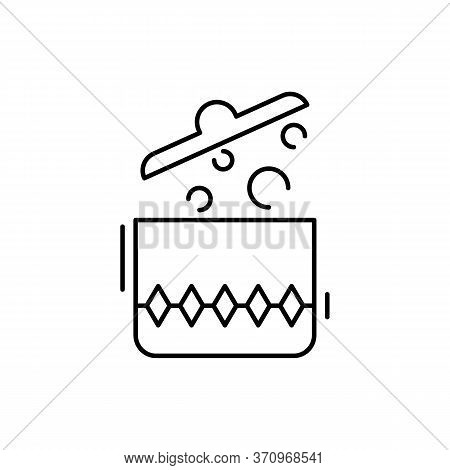 Pot, Boiling, Kitchen Icon. Simple Line, Outline Vector Elements Of Kitchen Object For Ui And Ux, We