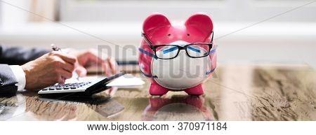 Save Money Piggybank, Budgeting And Financial Audit