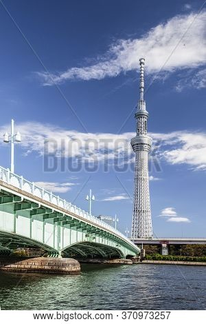 Tokyo - Oct 24, 2012 : View Of Tokyo Sky Tree (634m) , The Highest Free-standing Structure In Japan
