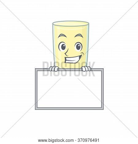 Screaming Orgasm Cocktail Cartoon Design Style Standing Behind A Board