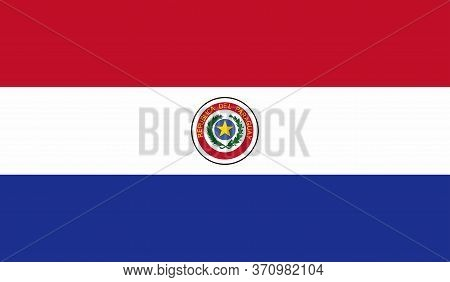 Paraguay Flag, Official Colors And Proportion Correctly. National Paraguay Flag. Vector Illustration
