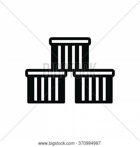 Black Solid Icon For Commodities Goods Cargo Wares Stock