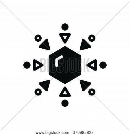 Black Solid Icon For Unusual Abnormal Uncommon Unwonted