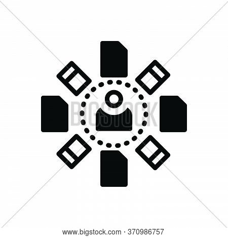 Black Solid Icon For Accompanied Together  Endways Unity People