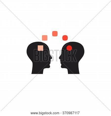 Emotional Intelligence Icon, Symbol Of Coaching, Psychotherapy Sign, Teacher Concept. Psychology Ico