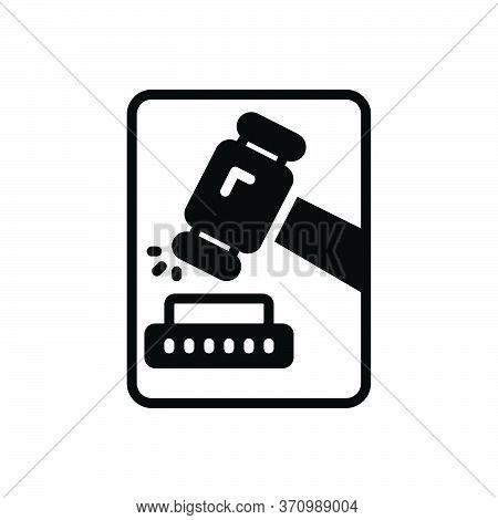 Black Solid Icon For Adjudicate Justice Lawsuits  Tribunal  Hammer Proceeding Senten Decide Adjudge