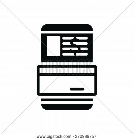 Black Solid Icon For Transaction Dealings Trade  Payment Technology Digital