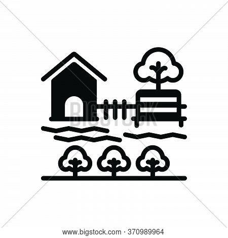 Black Solid Icon For Garden Park Plantation Garth Environment Trees Landscape Green Botanical