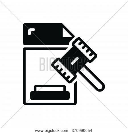 Black Solid Icon For Legal Legitimate Lawful Juristic Juridical Licit Statutory