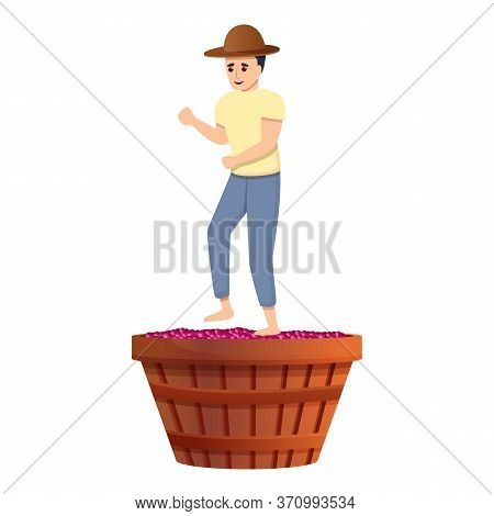 Village Winery Maker Icon. Cartoon Of Village Winery Maker Vector Icon For Web Design Isolated On Wh