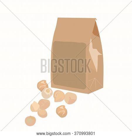 Vector Stock Illustration Of A Bag Of Seeds. Bag Of Seeds For Sowing. Gardening, Spring Planting. Pl