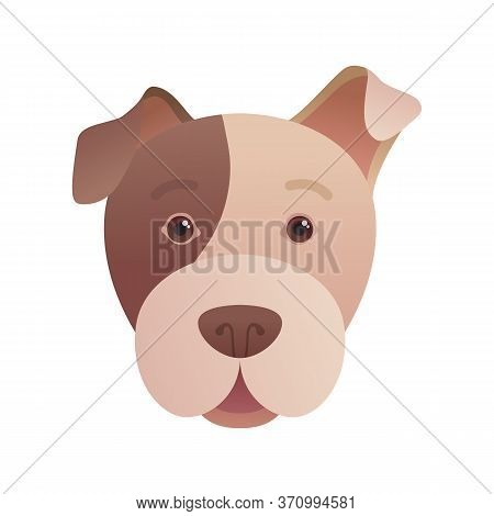 Funny Dog Head Icon In Cartoon Style. Cute Dog Pictogram For Pet Shop, Veterinary Clinic And Animal