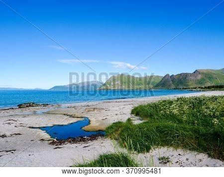 Seascape In Gimsoysand, Lofoten Islands, Norway
