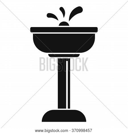 Airport Drinking Faucet Icon. Simple Illustration Of Airport Drinking Faucet Vector Icon For Web Des
