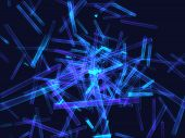 fantasy tall particles emission in black background poster