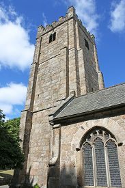 Exterior Of Chagford Church In Dartmoor, Devon