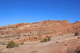 Rock Formations In The Arches National Park, Utah