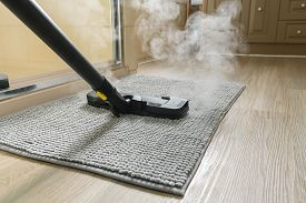 Sanitizing Bathroom Mat Using A Steam Cleaner