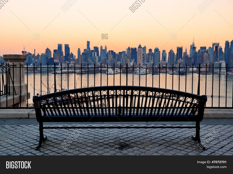 Bench Park New York Image Photo Free Trial Bigstock