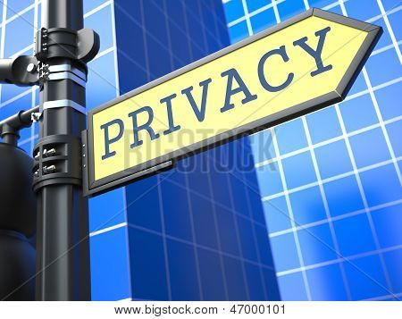 Privacy Roadsign.