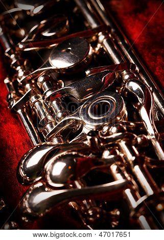 Oboe in red velvet case