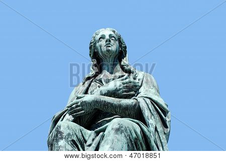 Sculpture Of A Woman, Forming Part Of The Monument To Emperor Francis I