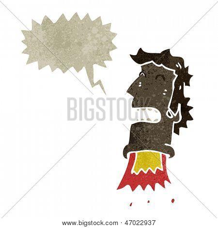 retro cartoon exploding head man poster