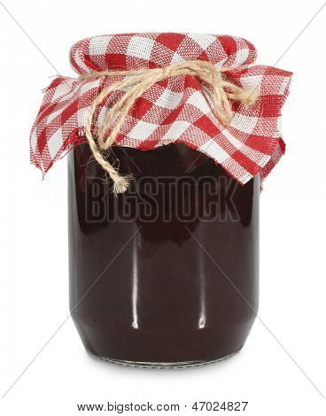 Jar of homemade jam or marmalade