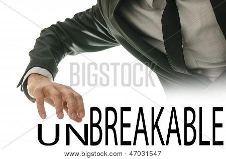 Changing Word Unbreakable Into Breakable