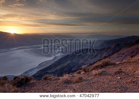 Sunbeams Over Badwater Basin, Death Valley