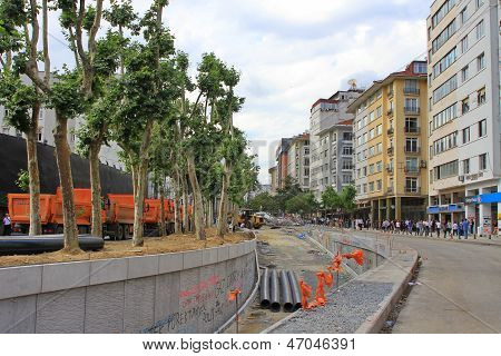 Taksim Road Construction